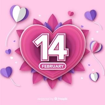 Fold hearts valentine's day background