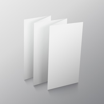Fold paper brochure presentation mockup