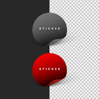 Сложите круглую наклейку, изолированную серым и красным