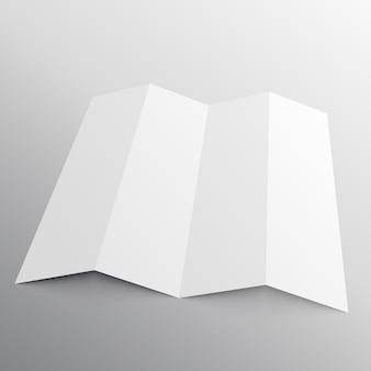 パースペクティブな折り畳み式パンフレットモックアップ