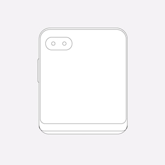 折りたたみ式携帯電話の概要、リアカメラ、折り畳み式携帯電話のベクトル図