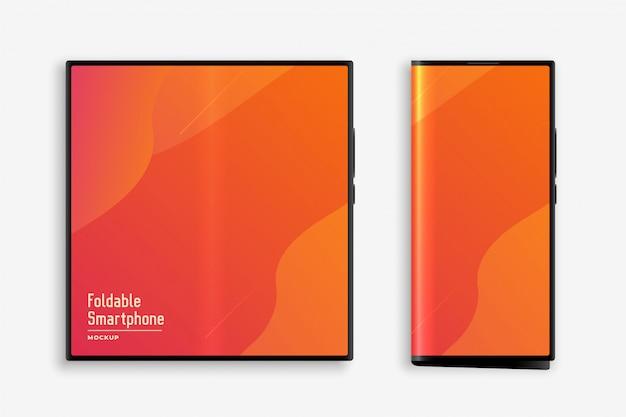Foldable smartphone concept mockup