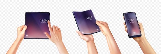 Foldable smartphone set