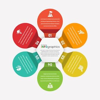접힌 전구 모양의 다채로운 전문 inforgaphic 템플릿