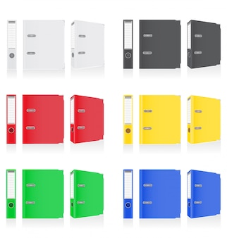 Folder colors binder metal rings for office.