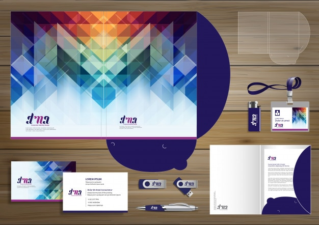 Folder corporate identity design promotion stationery