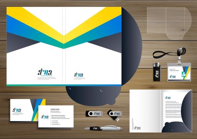 Folder corporate identity design promotion stationery
