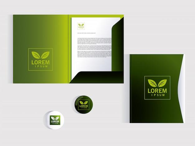 Folder, corporate identity template over white