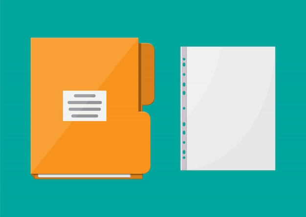 Folder for correspondence and file for document