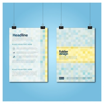 Folder design vector template