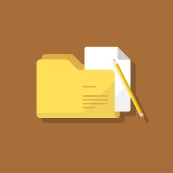 Folder document flat