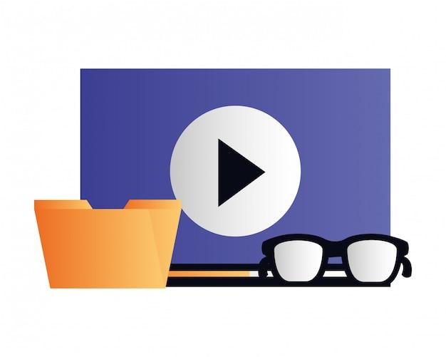 Folder file video content social media
