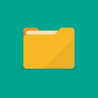Folder icon in flat style