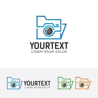 Folder photo vector logo template