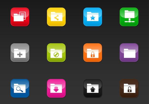 디자인을 위한 폴더 전문 웹 아이콘