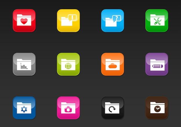 Папка профессиональные веб-иконки для вашего дизайна