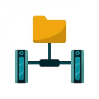 Folder and servers technology