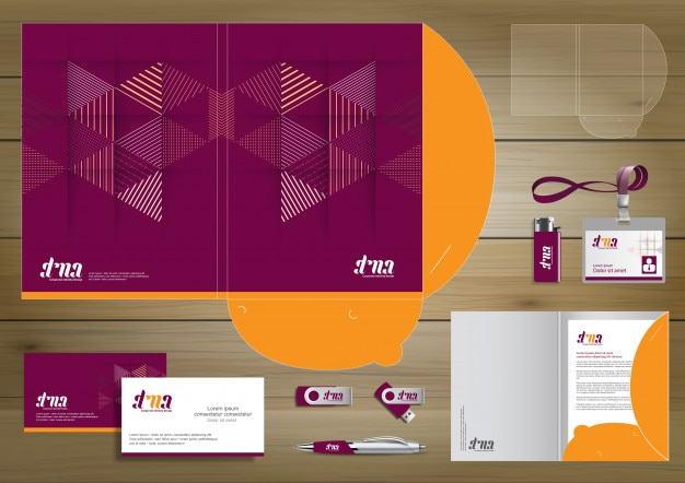 Folder template design. digital technology company, corporate identity stationery, people community friends presentation design used for business or working promotion,