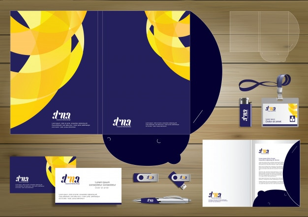 Folder template design for digital technology company