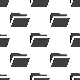 Folder, vector seamless pattern, editable can be used for web page backgrounds, pattern fills