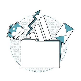 Folder with emails and statistics