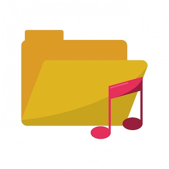 Folder with music note