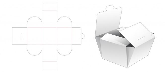 Modello fustellato confezionamento confezione da forno pieghevole