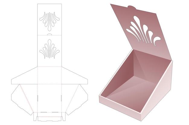 스텐실 다이 컷 템플릿이있는 접이식 플립 슬로프 박스