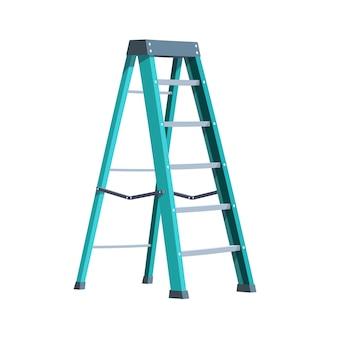 Складная лестница на белом