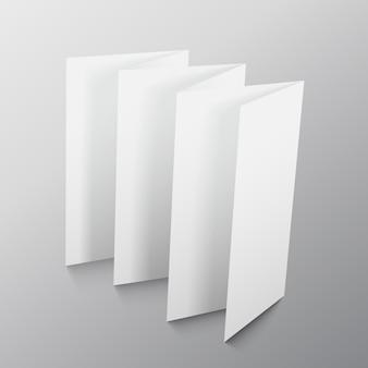 Folding paper presentation mockup design