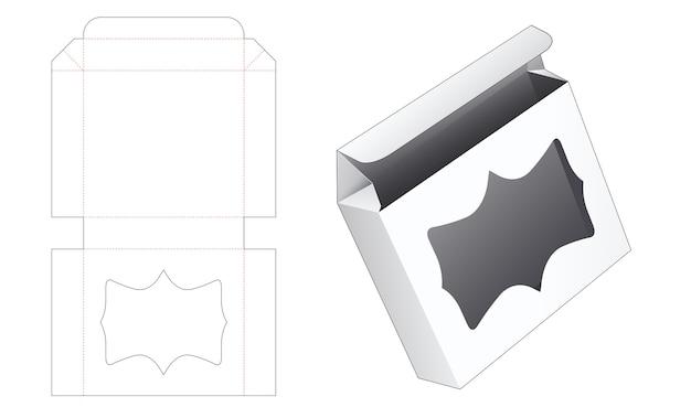Складная жестяная коробка с шаблоном для высечки окна
