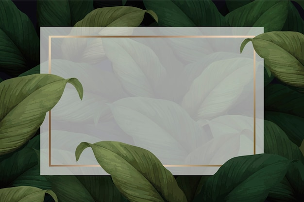 Foliage background template