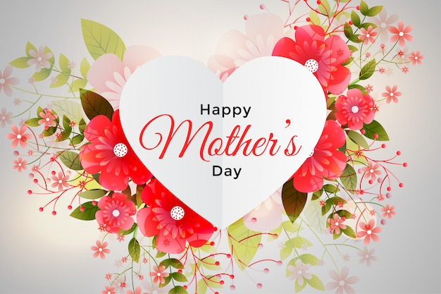 Foliage decoration for happy mother's day