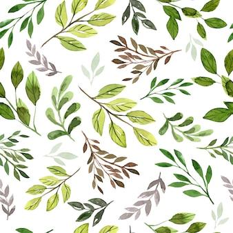 Foliage leaf seamless pattern
