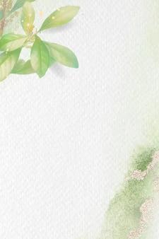 葉のパターンの背景テンプレート