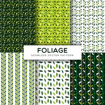 Foliage pattern collection