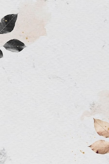 Узор листвы на мраморном текстурированном фоне