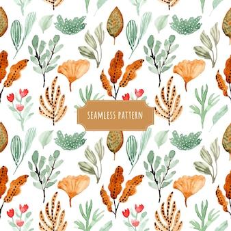 Foliage watercolor seamless pattern