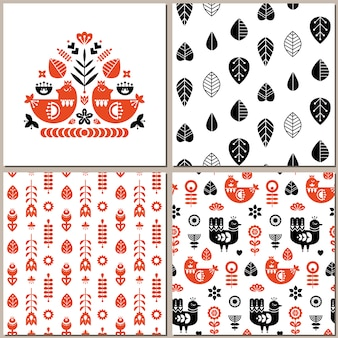 Folk art pattern collection