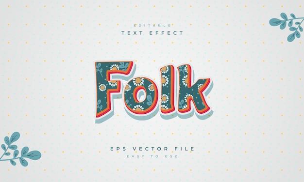 Folk editable text effect