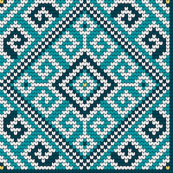 Folk traditional knitting seamless pattern