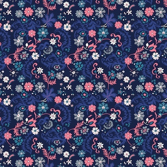 Folkloric floral seamless pattern
