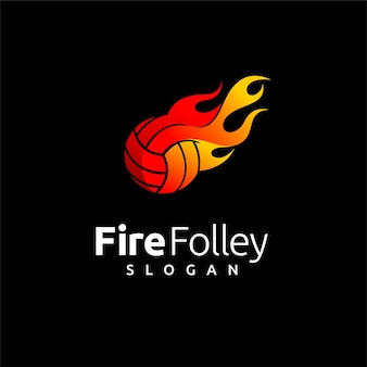 Folley logo with fire element
