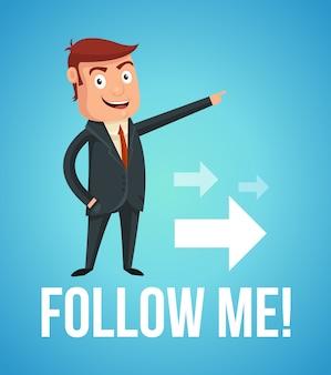 Follow me man character.