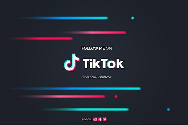 Follow me on tiktok background