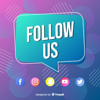Follow us background