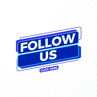 Follow us social media sign vector design