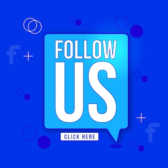 Follow us vector sign design