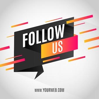 Современный баннер follow us