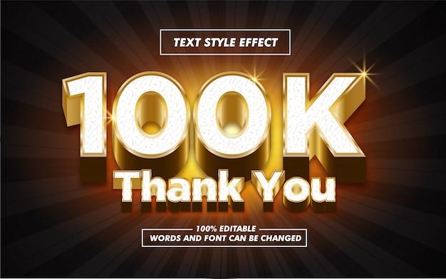 Follower gold text style effect